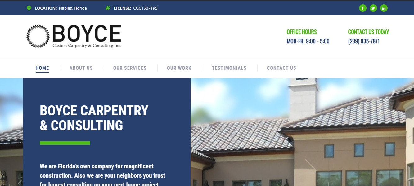 Boyce Carpentry and Consulting Inc Banner