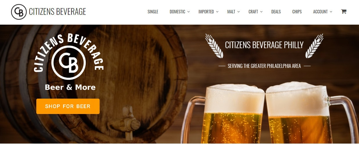 Citizens Beverage Banner Screenshot
