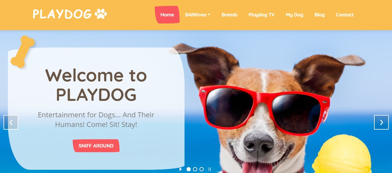 Playdog Entertainment Slider Screenshot