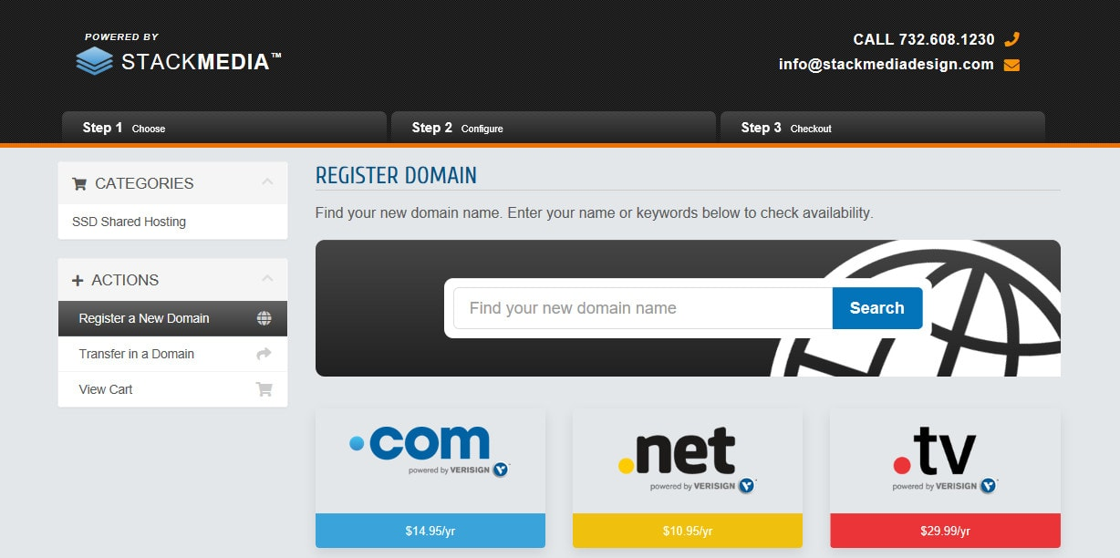 Stack Media Design Domain Registration