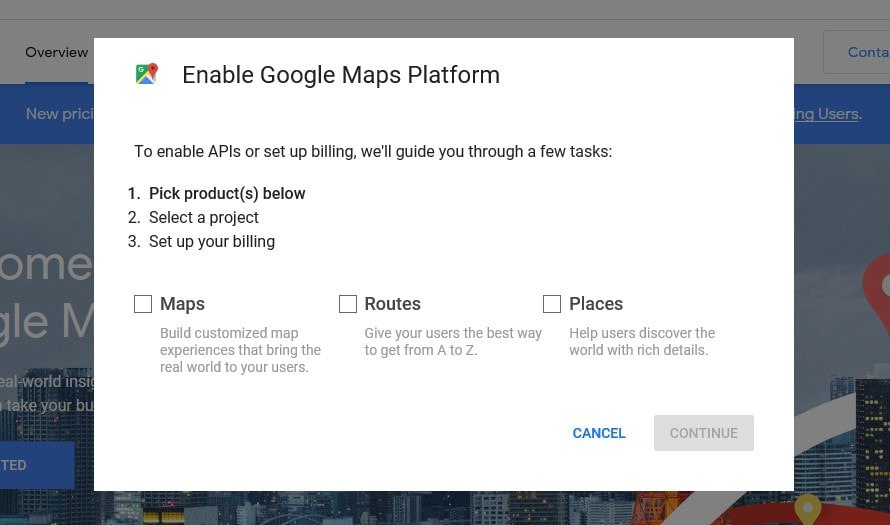 Google Maps Options